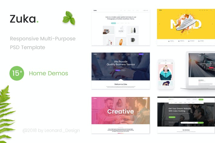 Thumbnail for Zuka | Responsive Multi-Purpose PSD Template