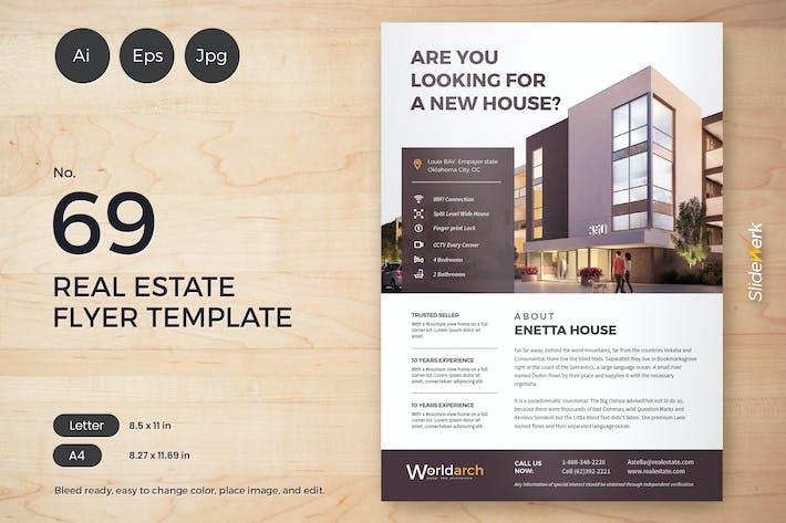 Thumbnail for Real Estate Flyer Template 69 - Slidewerk