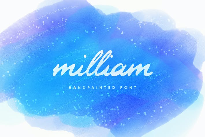 Thumbnail for Milliam - Handpainted Font