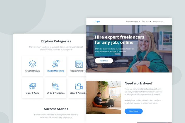 Thumbnail for Freelancer Market Place - Email Newsletter