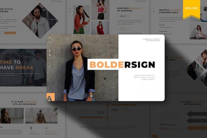 Thumbnail for Boldersign   Google Slides Template