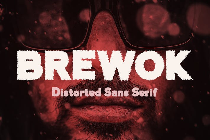 Thumbnail for Brewok Distorted Font