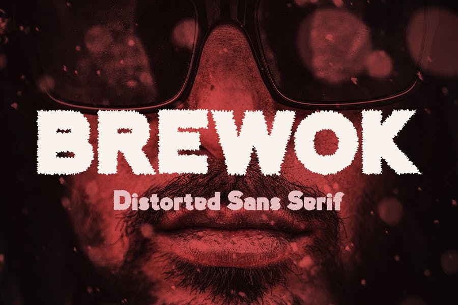 Brewok Distorted Font