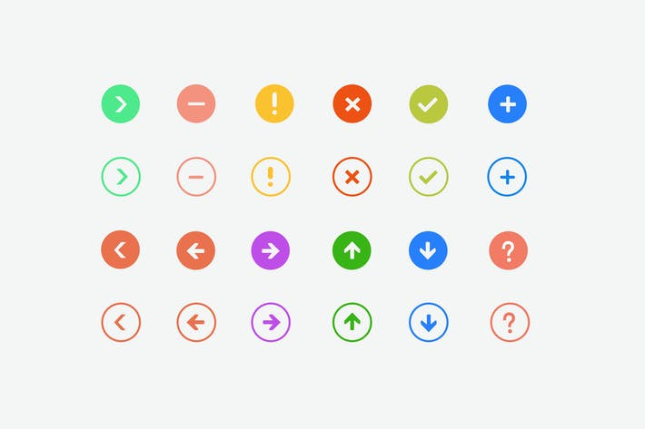 Thumbnail for 24 Interface Symbols and Icons