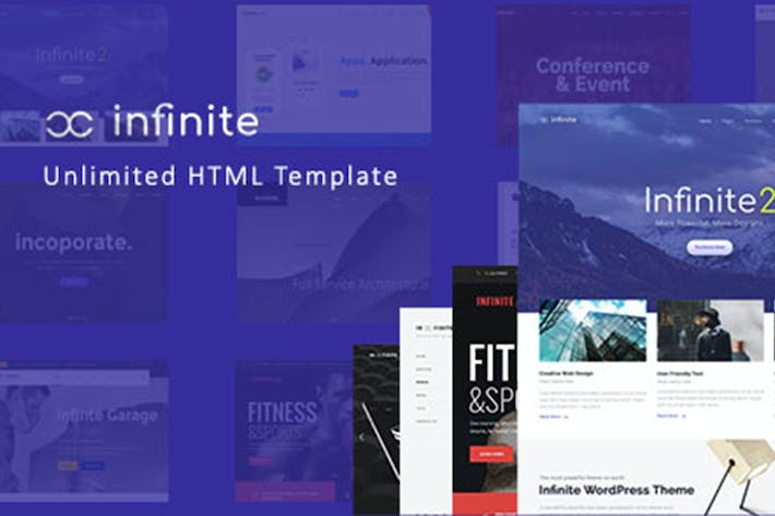 Thumbnail for Infinite - Responsive Multi-Purpose HTML Template