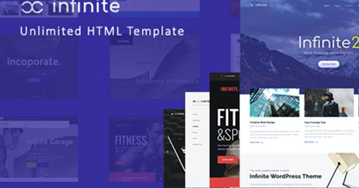 Download Infinite - Responsive Multi-Purpose HTML Template by max-themes