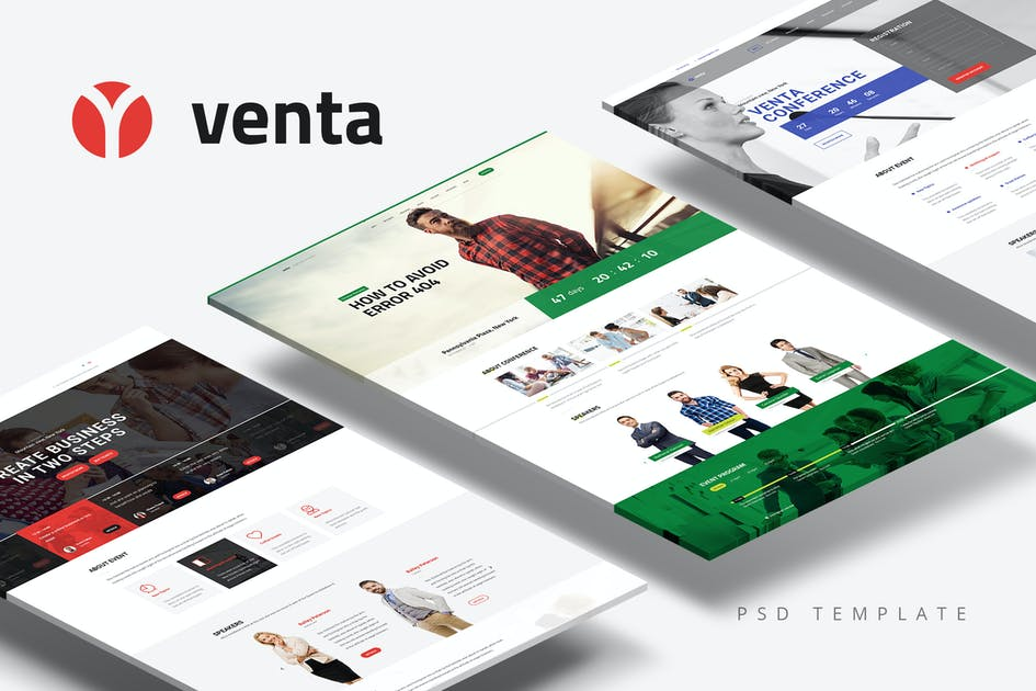 Download Venta — Event & Conference/Blog/Business PSD Theme by torbara