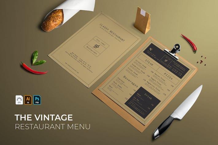 Thumbnail for Vintage | Restaurant-Menü