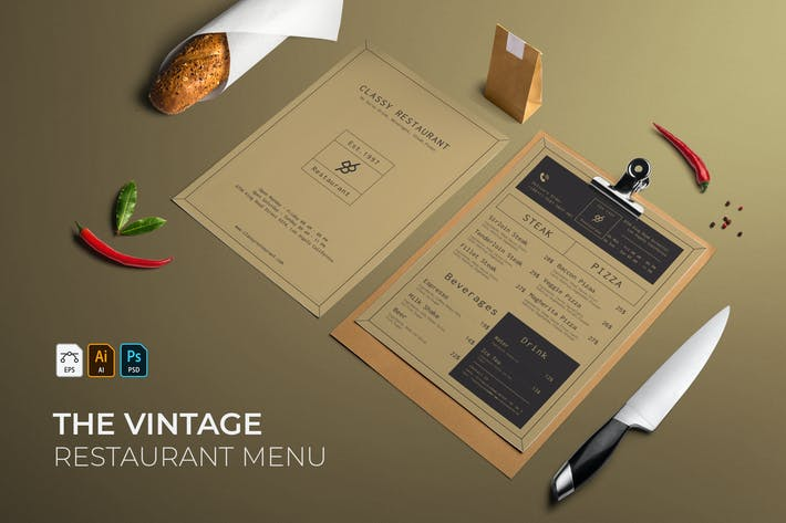 Thumbnail for Vintage | Restaurant Menu