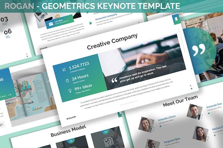 Thumbnail for Rogan - Geometrics Keynote Template