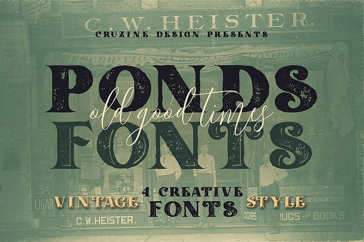 Thumbnail for Ponds Typeface
