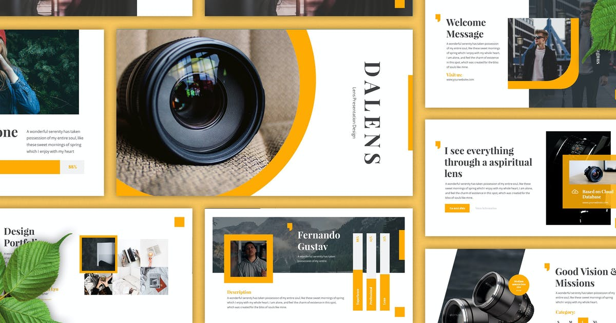 Download Dalens - Photography Keynote Template by SlideFactory