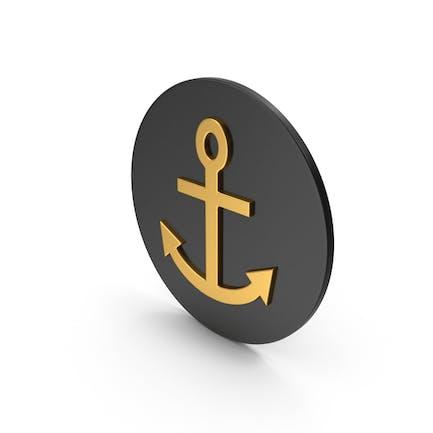 Anchor Gold Icon