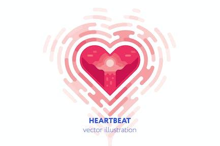 Heartbeat vector illustration