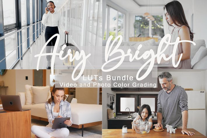 Thumbnail for Airy Bright LUTs Bundle