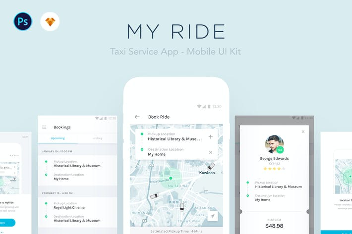 Thumbnail for My Ride - Taxi App Mobile UI Kit
