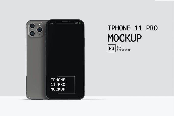IPhone 11 Pro Front View Mockup RZ