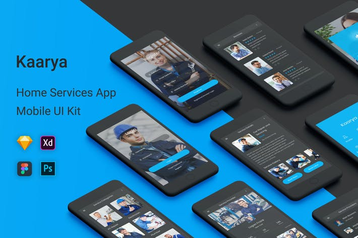 Thumbnail for Kaarya - Home Services UI Kit