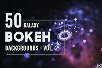 50 Galaxy Bokeh Hintergründe - Band 2