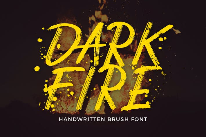 Thumbnail for Dark Fire Brush Font