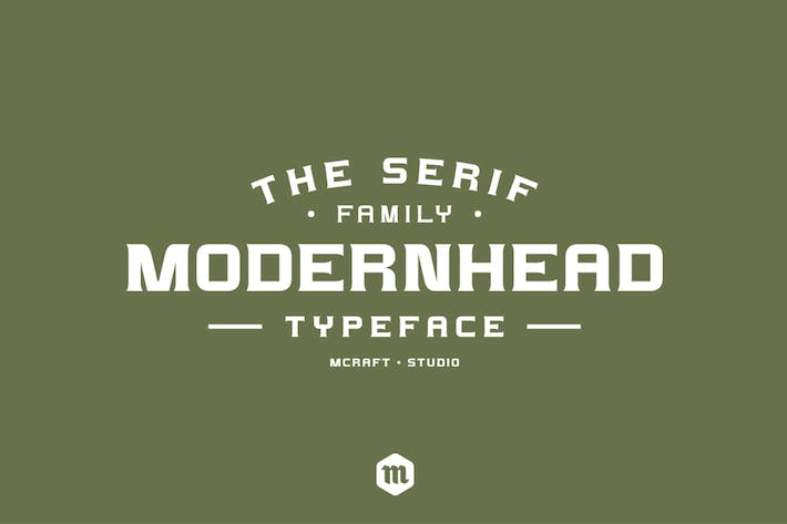 Thumbnail for Modernhead Serif Typeface
