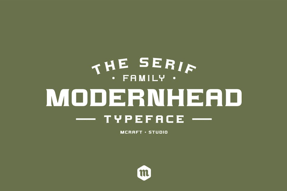 Download Modernhead Serif Typeface by Mihis_Design