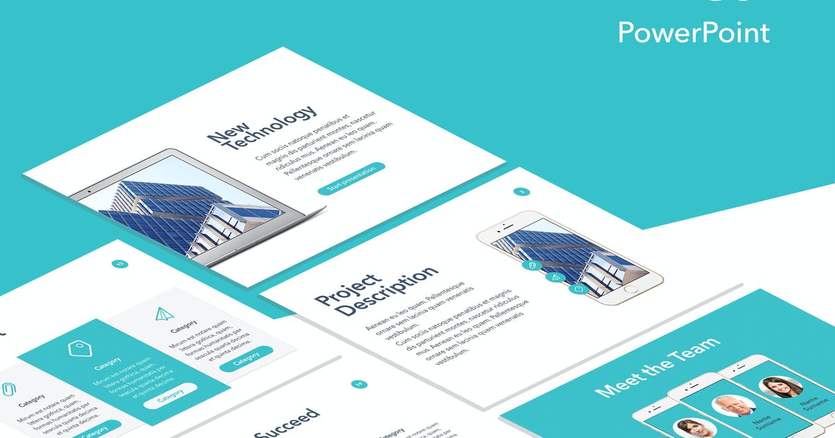 New Technology PowerPoint Template by Unknow