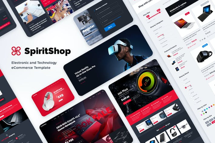 Cover Image For SpiritShop - Electronic eCommerce Template