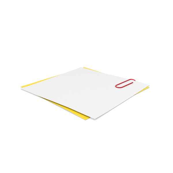 White & Yellow Papers With Paper Clip