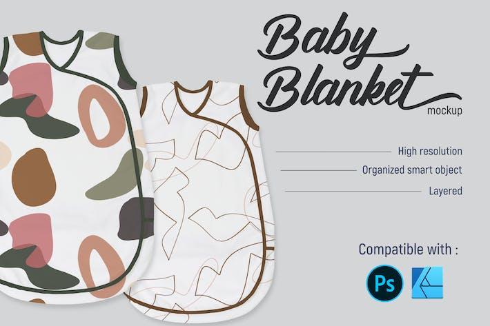 Couverture bébé   Mockup