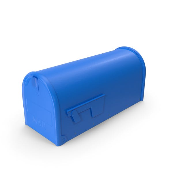 Blue Painted Mailbox