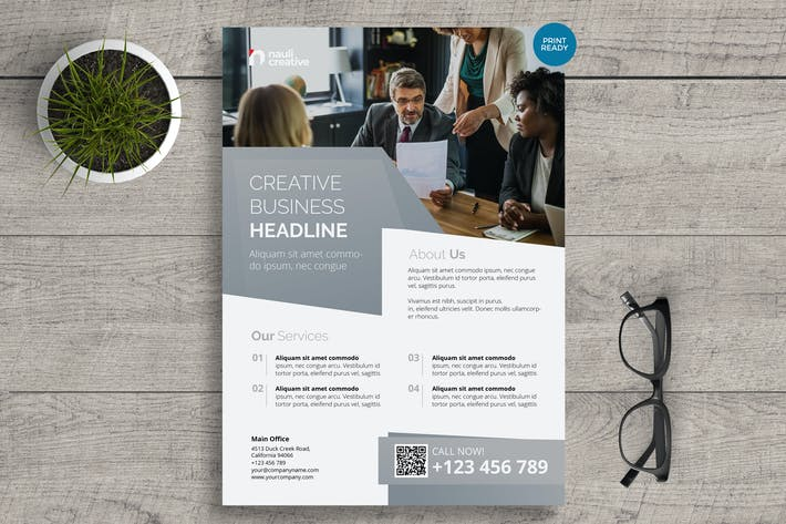 Thumbnail for Corporate Business Flyer PSD and Vector Vol.12