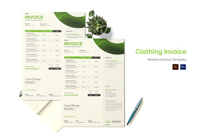 Clothing Invoice