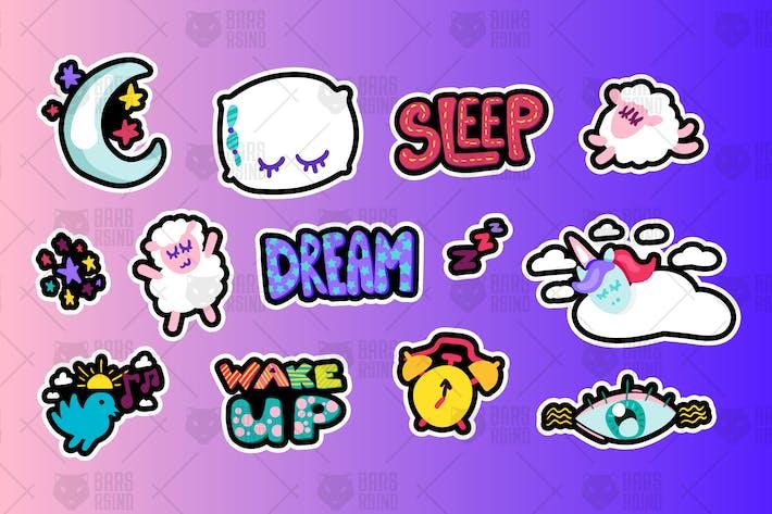 Thumbnail for Sleeping And Dreams Symbole Set