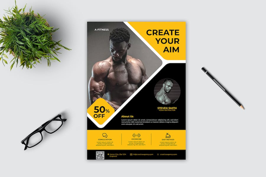 Fitness Flyer Template Vol. 2