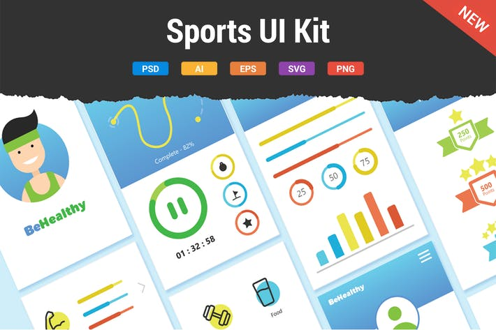 Thumbnail for Sports UI Kit