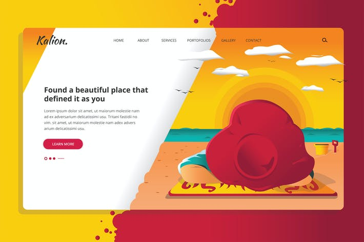 Cover Image For Kalion - Sunset Web Header Template