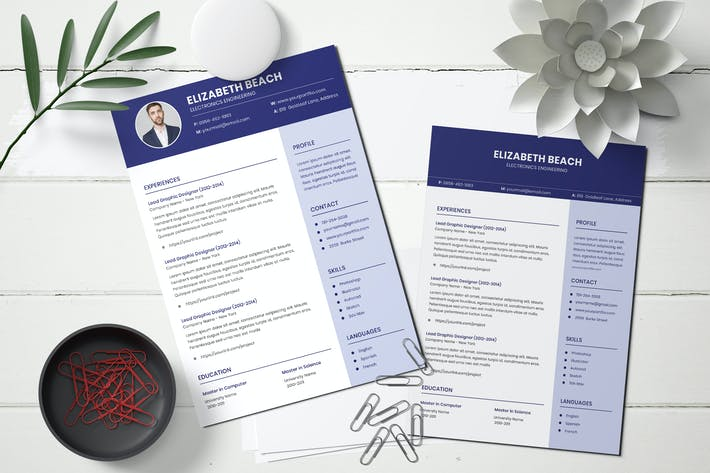 Thumbnail for Curriculum Vitae Resume Template