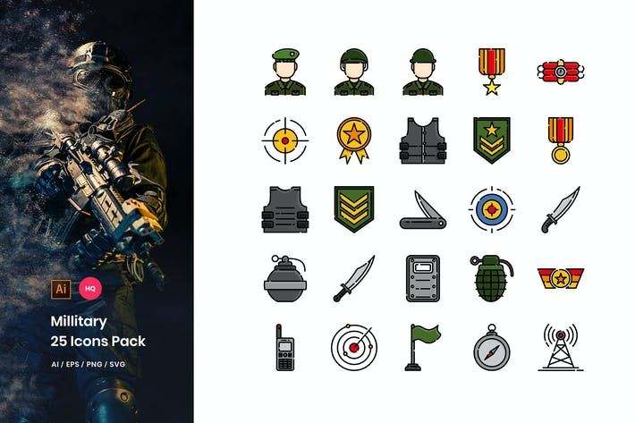 Thumbnail for Military Icons Pack