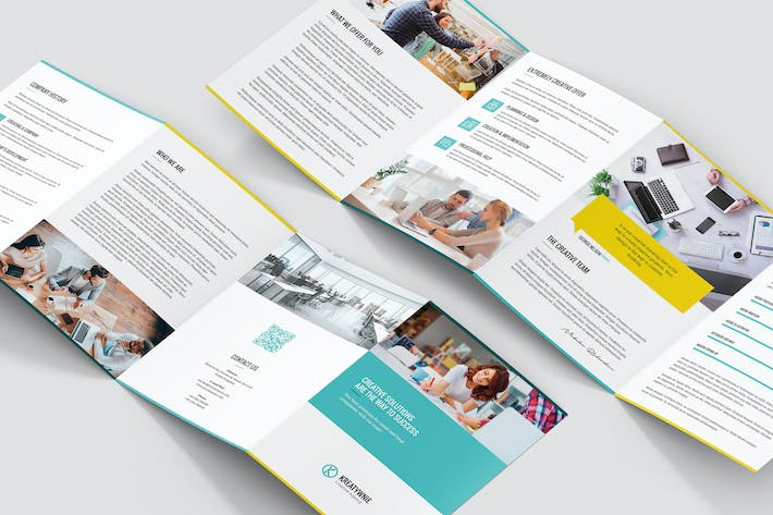 Thumbnail for Brochure – Creative Agency 4-Fold A5
