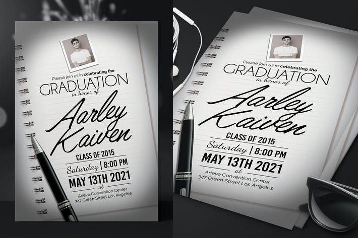 Thumbnail for Elegant Graduation Invitation