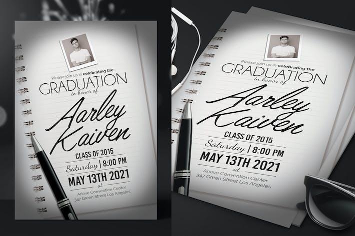 Thumbnail for Élégante invitation à la remise des diplômes