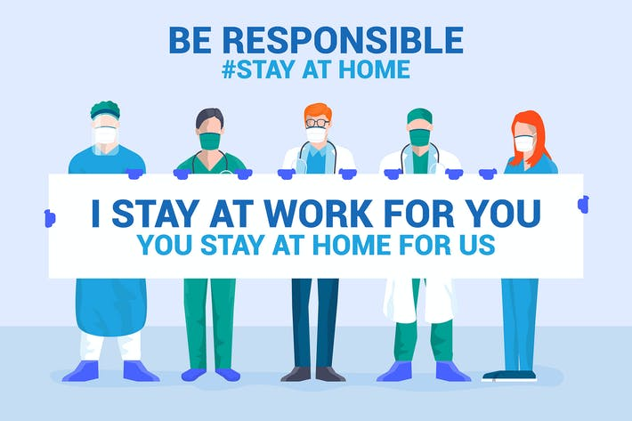 Thumbnail for Be Responsible, stay at home campaign