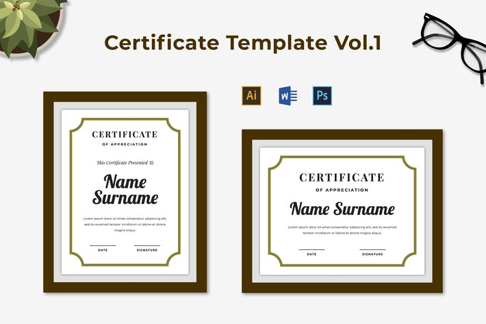 Thumbnail for Certificate Template Vol.1
