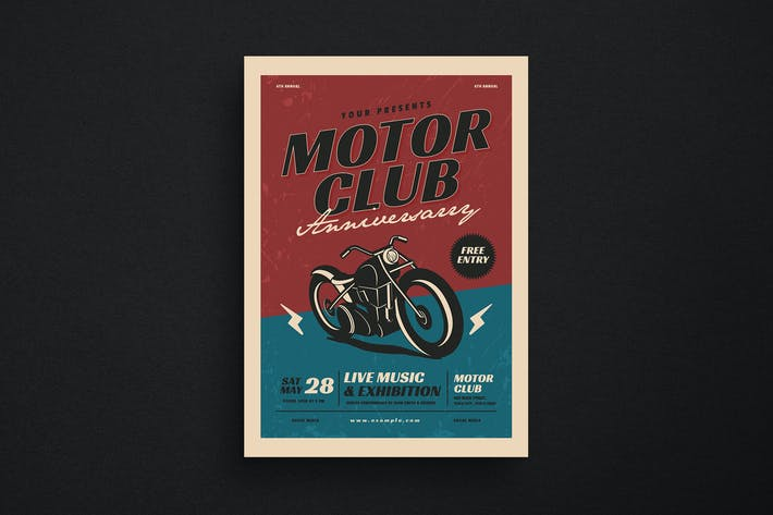 Thumbnail for Motorclub Anniversary Flyer