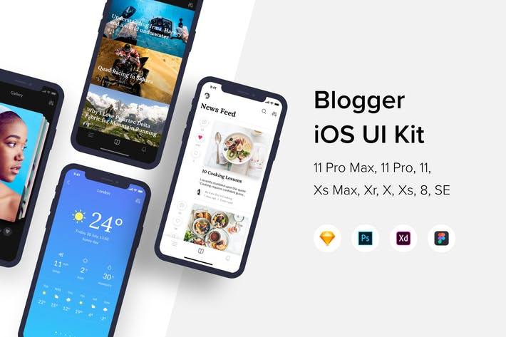 Cover Image For Блоггер iOS UI Kit