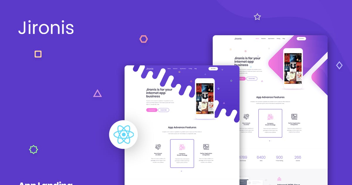 Download Jironis - React Next App Landing Page Template by Layerdrops