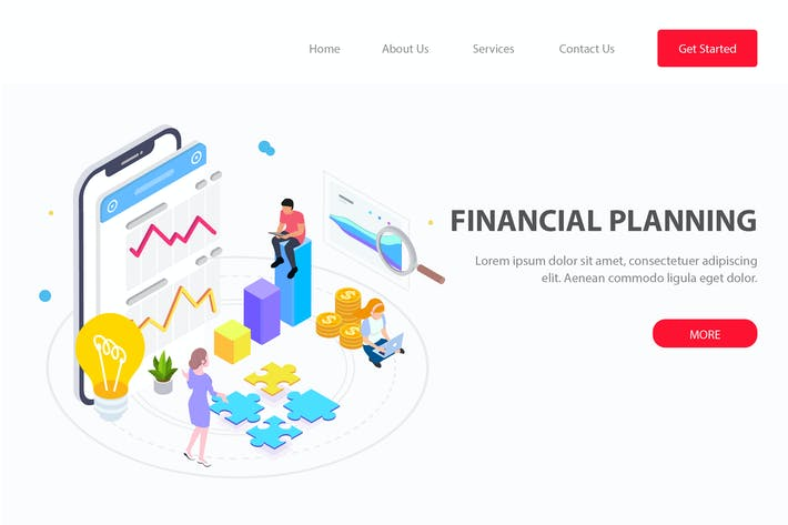 Thumbnail for Financial Planning Isometric - FV