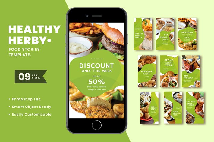 Thumbnail for Healthy Herby Instagram Stories Template