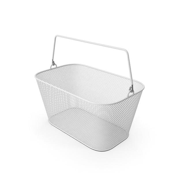 White Shopping Wire Mesh Basket